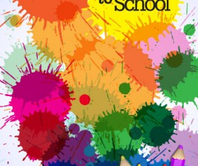 colorful paintbrush template vector 02