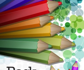colorful paintbrush template vector 03