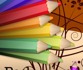 colorful paintbrush template vector 04