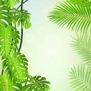 Link toTropical green leaf elements vector background 04