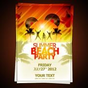 Link toSet of beach party flyer vector 02