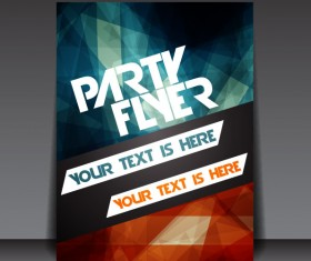 Set of beach party Flyer vector 03