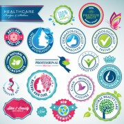 Link toHealthcare elements labels vector
