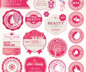 beauty badges and label vector