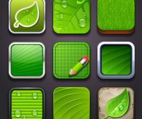 Eco elements icon vector 02