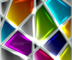 Set of luxury glass background vector 01
