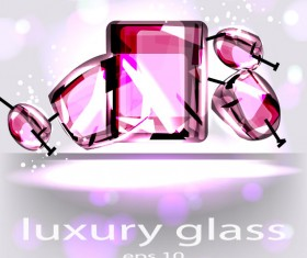 Set of luxury glass background vector 02