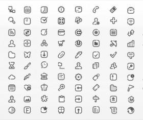 Mini web design elements icon