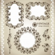 Link toVintage lace frames and borders vector 01