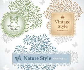 Vintage lace Frames and Borders vector 02