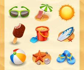 Cartoon Tourism elements icon vector 01