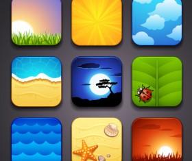 Cartoon Tourism elements icon vector 02