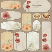 Link toExcellent vintage flower labels vector 01