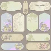Link toExcellent vintage flower labels vector 02