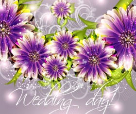 wedding day Invitation cards elements vector 01