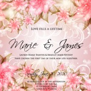 Link toWedding day invitation cards elements vector 05