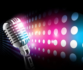 Stylish Microphone elements vector set 03