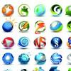 Different 3D logos design elements vector 01