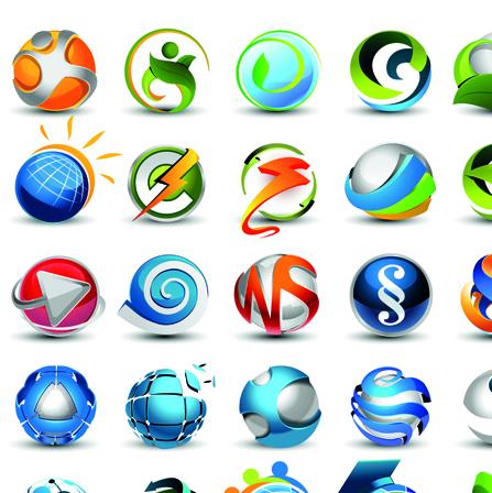 Different 3D logos design elements vector 01 free download