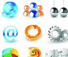 Different 3D logos design elements vector 04