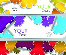 Various Stylish paper labels vector 01