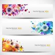 Link toAbstract of colorful flowers banners vector 05