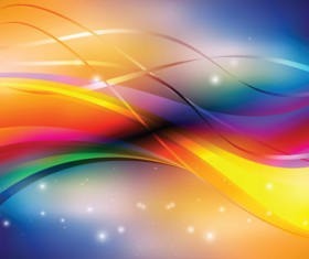 Abstract Backgrounds with Shiny Waves vector 02