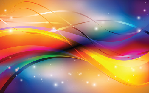 abstract backgrounds with shiny waves vector 02 free download