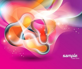 Abstract Backgrounds with Shiny Waves vector 05
