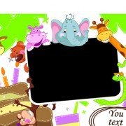 Link toCute cartoon animals and billboard vector 02