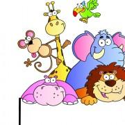 Link toCute cartoon animals and billboard vector 03