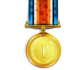 Different Award medal vector set 01