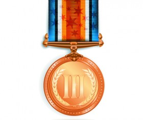 Different Award medal vector set 02