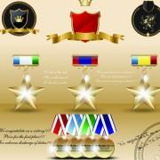 Link toDifferent award medal vector set 04