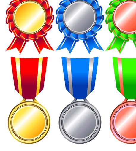 Different Award Medal Vector Set 08
