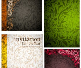 Set of Different Backgrounds vector mix 05