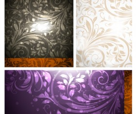 Set of Different Backgrounds vector mix 06