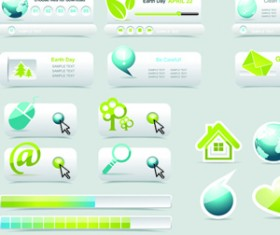 Creative Buttons and web menus elements vector 02