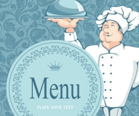 Set of Restaurant menu Cover background vector 01