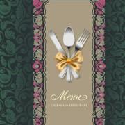 Link toSet of restaurant menu cover background vector 02