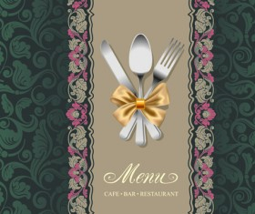 Set of Restaurant menu Cover background vector 02