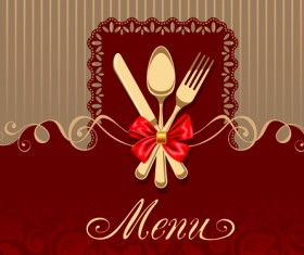 Set of Restaurant menu Cover background vector 03