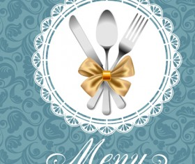 Set of Restaurant menu Cover background vector 04
