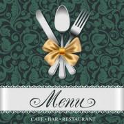 Link toSet of restaurant menu cover background vector 05