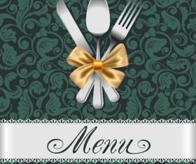 Set of Restaurant menu Cover background vector 05