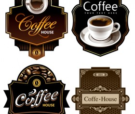 Creative Coffee labels elements vector