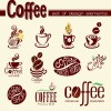 Coffee logo design elements vector