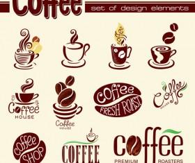 Coffee logo design elements vector