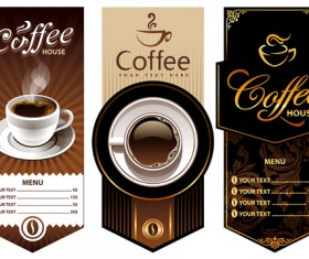 Creative Coffee menu cover background vector