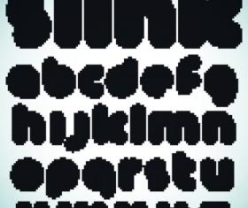 Elements of Different alphabet vector set 02